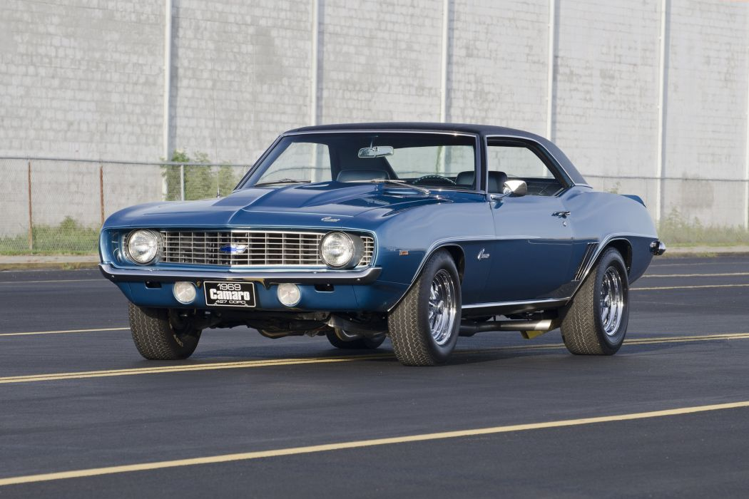 1969 Chevrolet Chevy COPO Camaro Blue Muscle Classic USA 4200x2800-01 wallpaper