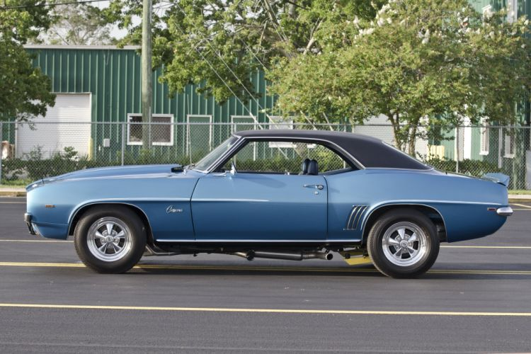 1969 Chevrolet Chevy COPO Camaro Blue Muscle Classic USA 4200x2800-02 wallpaper