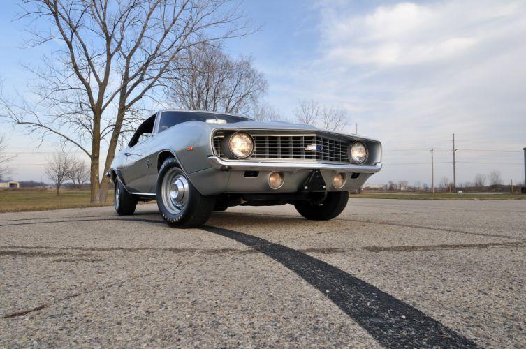 1969 Chevrolet Chevy COPO Camaro Silver Muscle Classic USA 4200x2790-05 wallpaper