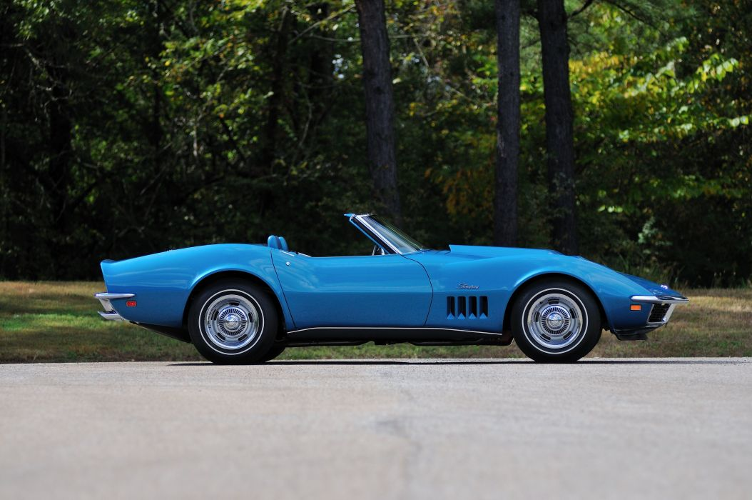 1969 Chevrolet Corvette Stingray L88 Convertible Blue Muscle Classic USA 4288x2848-02 wallpaper