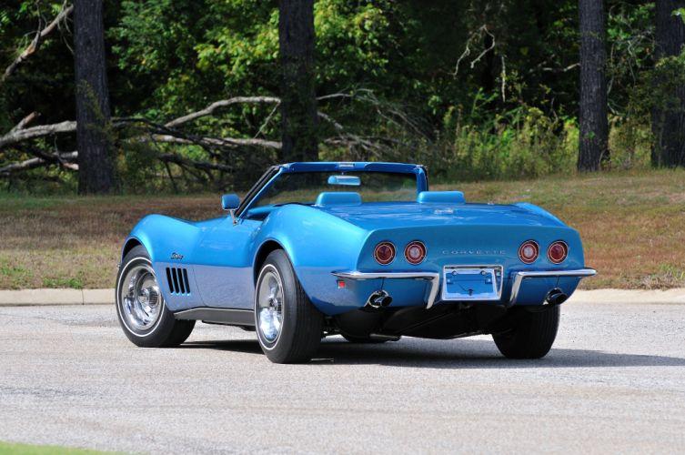 1969 Chevrolet Corvette Stingray L88 Convertible Blue Muscle Classic USA 4288x2848-03 wallpaper