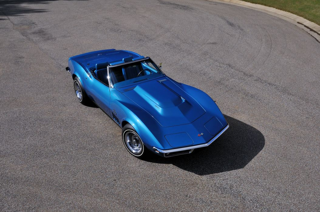1969 Chevrolet Corvette Stingray L88 Convertible Blue Muscle Classic USA 4288x2848-04 wallpaper