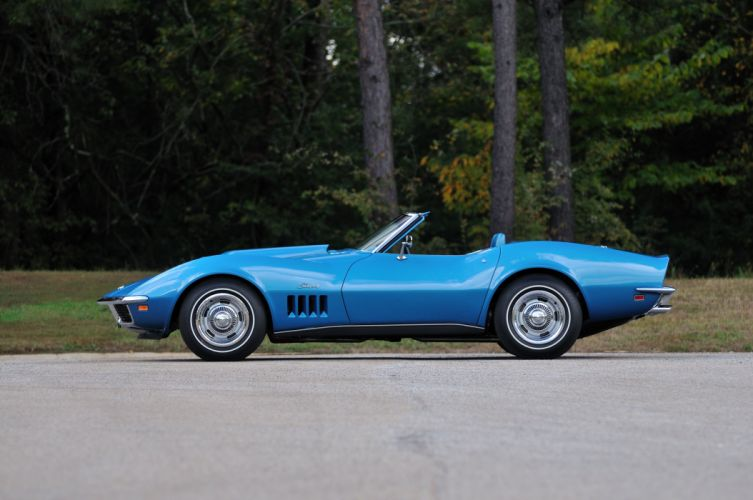 1969 Chevrolet Corvette Stingray L88 Convertible Blue Muscle Classic USA 4288x2848-09 wallpaper