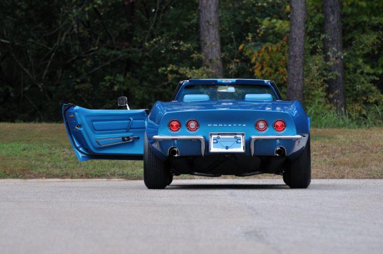 1969 Chevrolet Corvette Stingray L88 Convertible Blue Muscle Classic USA 4288x2848-10 wallpaper