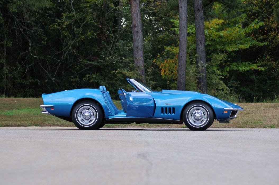 1969 Chevrolet Corvette Stingray L88 Convertible Blue Muscle Classic USA 4288x2848-12 wallpaper