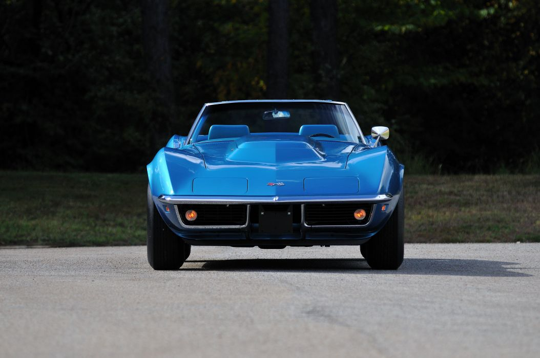 1969 Chevrolet Corvette Stingray L88 Convertible Blue Muscle Classic USA 4288x2848-13 wallpaper