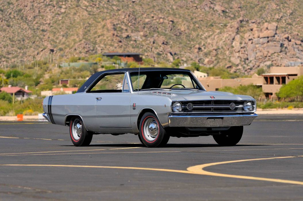 1969 Dodge Dart Coupe GT Sport Silver Muscle Classic USA- 4200x2790-01 wallpaper