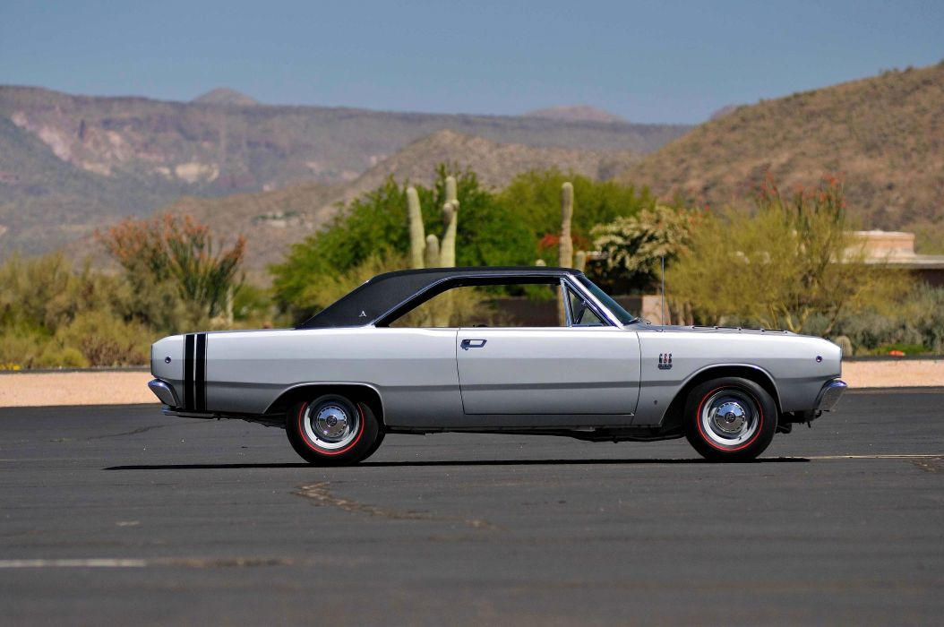 1969 Dodge Dart Coupe GT Sport Silver Muscle Classic USA- 4200x2790-02 wallpaper