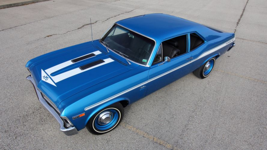 1969 Chevrolet Yenko Nova Muscle Classic Old Blue USA 5120x2880 wallpaper