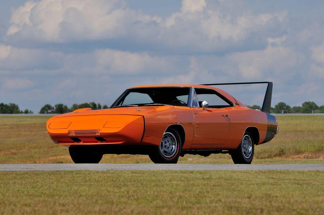 1969 Dodge Daytona Orange Muscle Classic USA 4200x2790-01 wallpaper