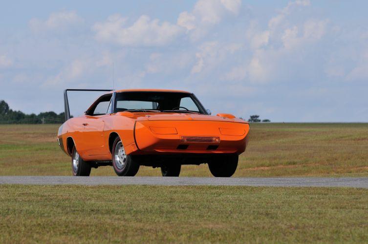 1969 Dodge Daytona Orange Muscle Classic USA 4200x2790-06 wallpaper