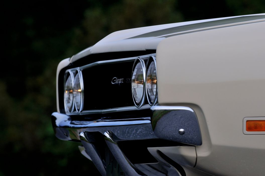 1969 Dodge Hemi Charger RT 500 White Muscle Classic USA 4200x2790-04 wallpaper