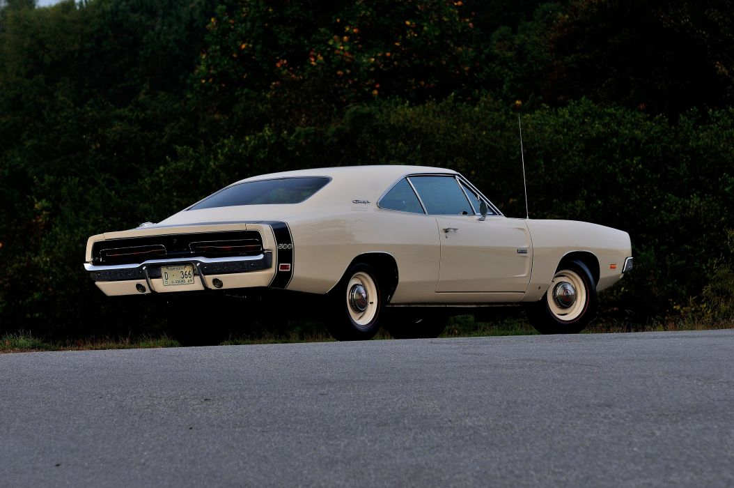 1969 Dodge Hemi Charger RT 500 White Muscle Classic USA 4200x2790-03 wallpaper