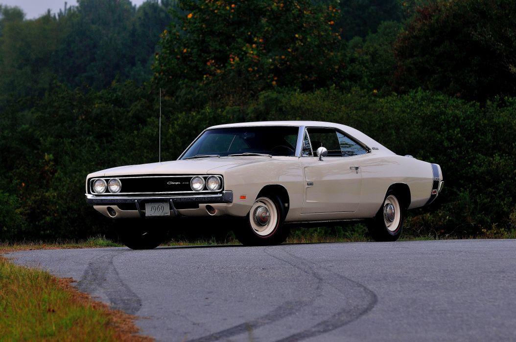 1969 Dodge Hemi Charger RT 500 White Muscle Classic USA 4200x2790-01 wallpaper