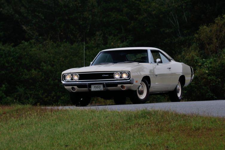 1969 Dodge Hemi Charger RT 500 White Muscle Classic USA 4200x2790-06 wallpaper