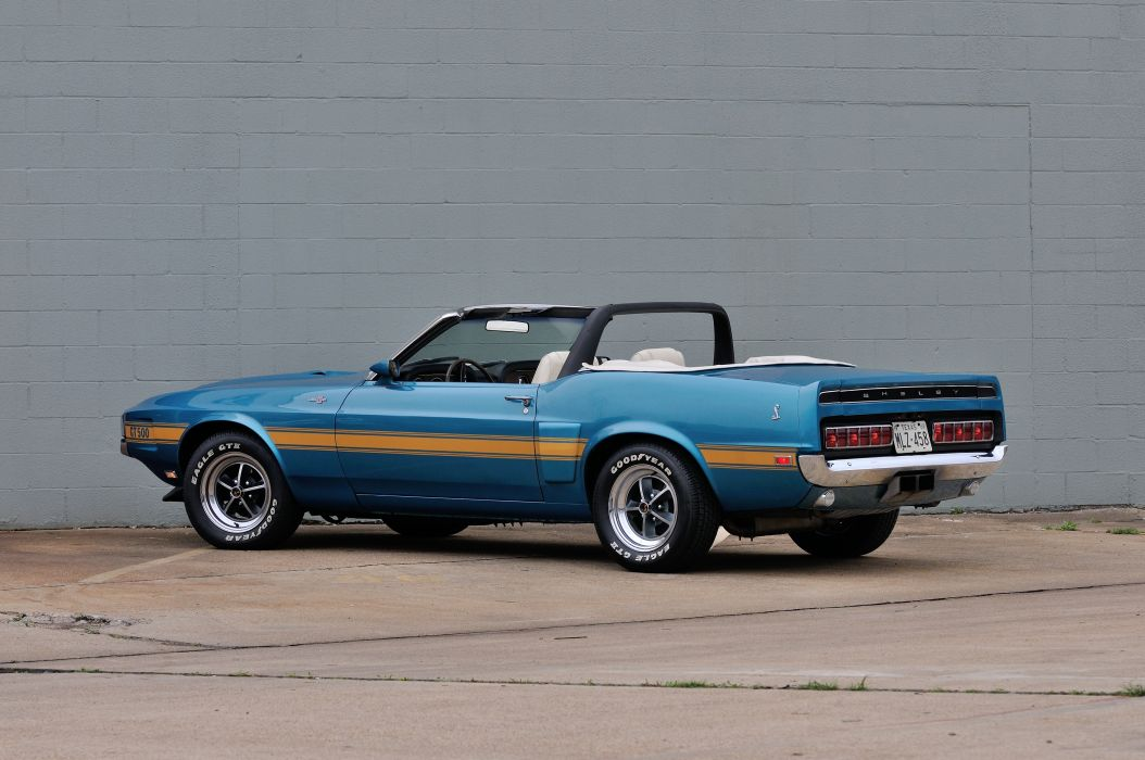 1969 Ford Mustang Convertible Shelby GT500 Cobra 428 Jet Muscle Classic Blue USA 4200x2790-03 wallpaper