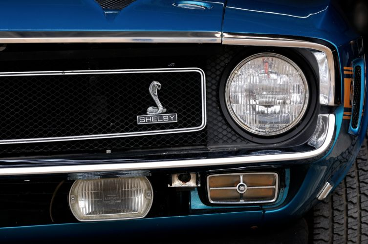 1969 Ford Mustang Convertible Shelby GT500 Cobra 428 Jet Muscle Classic Blue USA 4200x2790-04 wallpaper