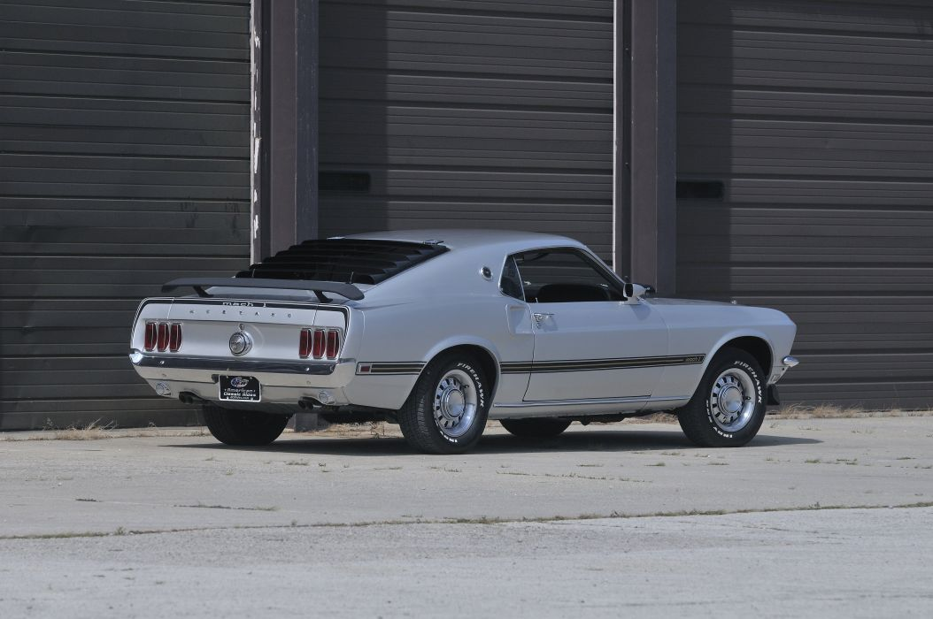 1969 Ford Mustang Mach1 CJ Muscle Silver Classic USA 4200x2790-02 wallpaper