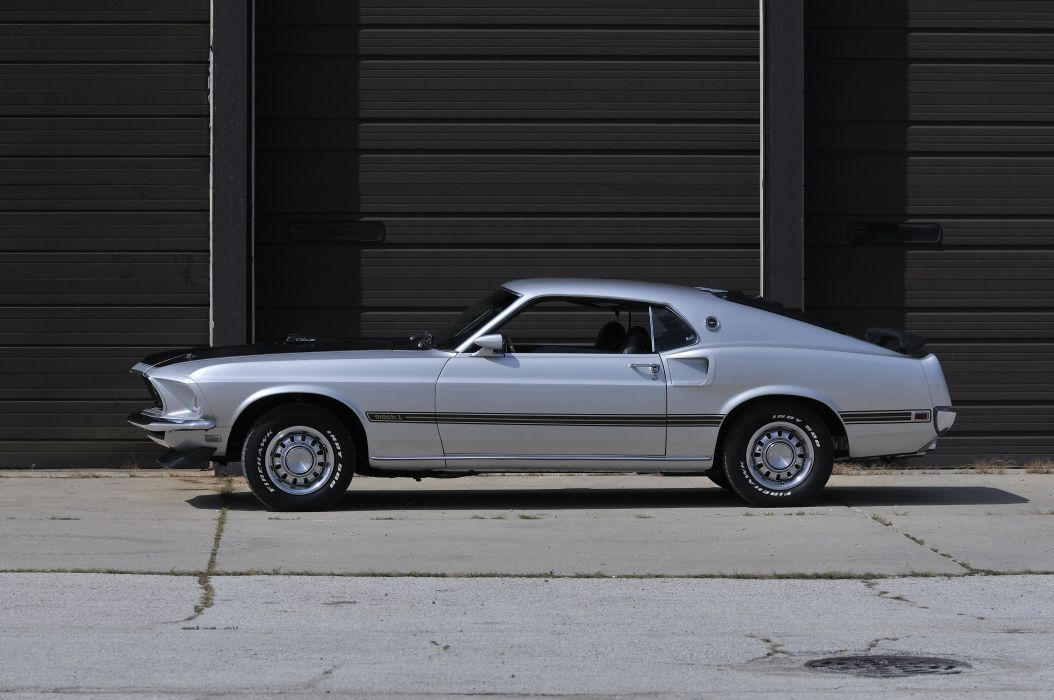 1969 Ford Mustang Mach1 CJ Muscle Silver Classic USA 4200x2790-03 wallpaper