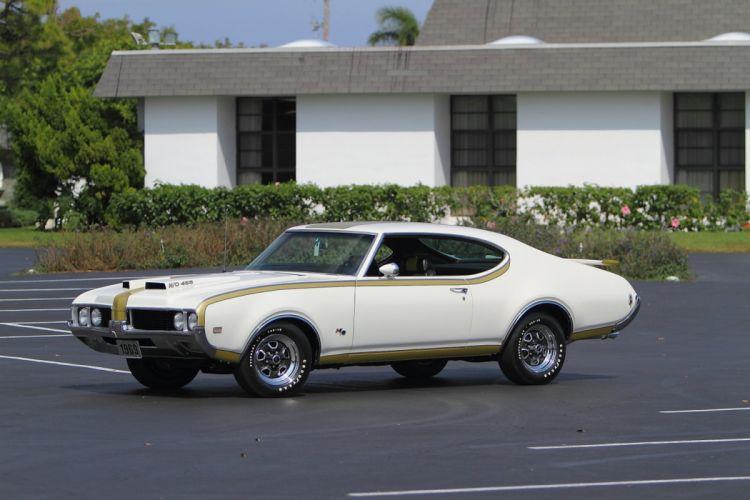 1969 Oldsmobile Hurst Hust Olds HO 455 White Muscle Classic USA 1600x1067-02 wallpaper