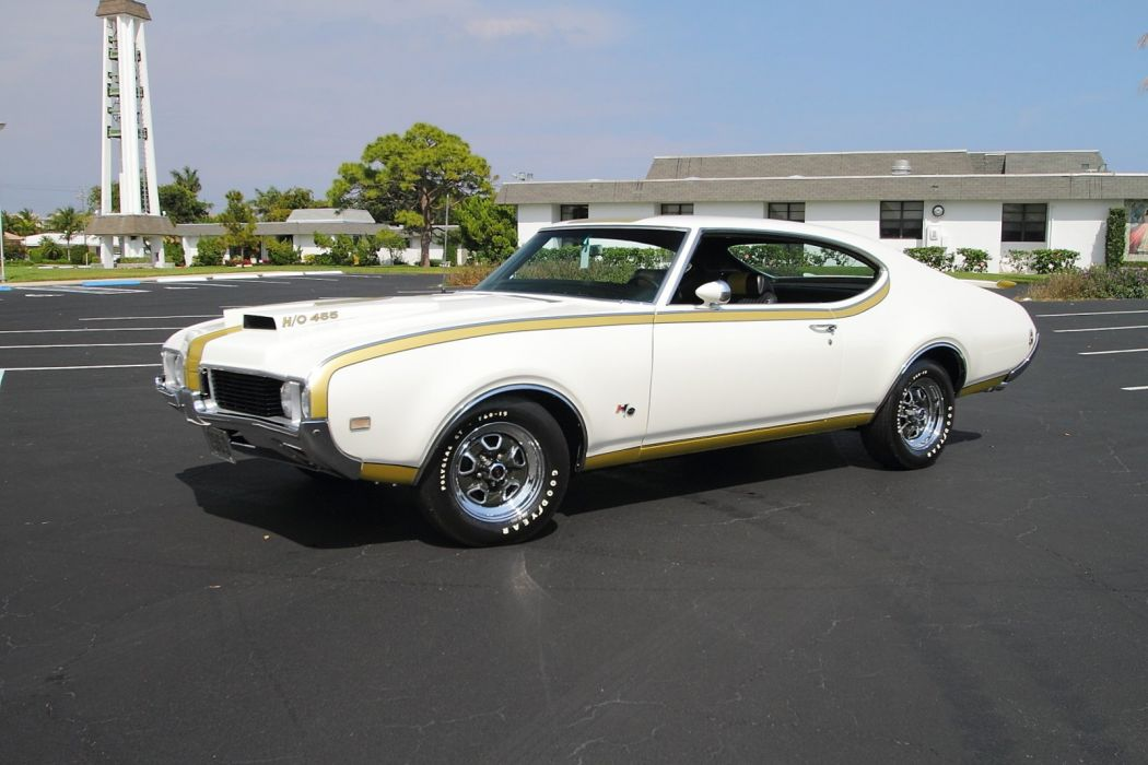 1969 Oldsmobile Hurst Hust Olds HO 455 White Muscle Classic USA 1600x1067-09 wallpaper