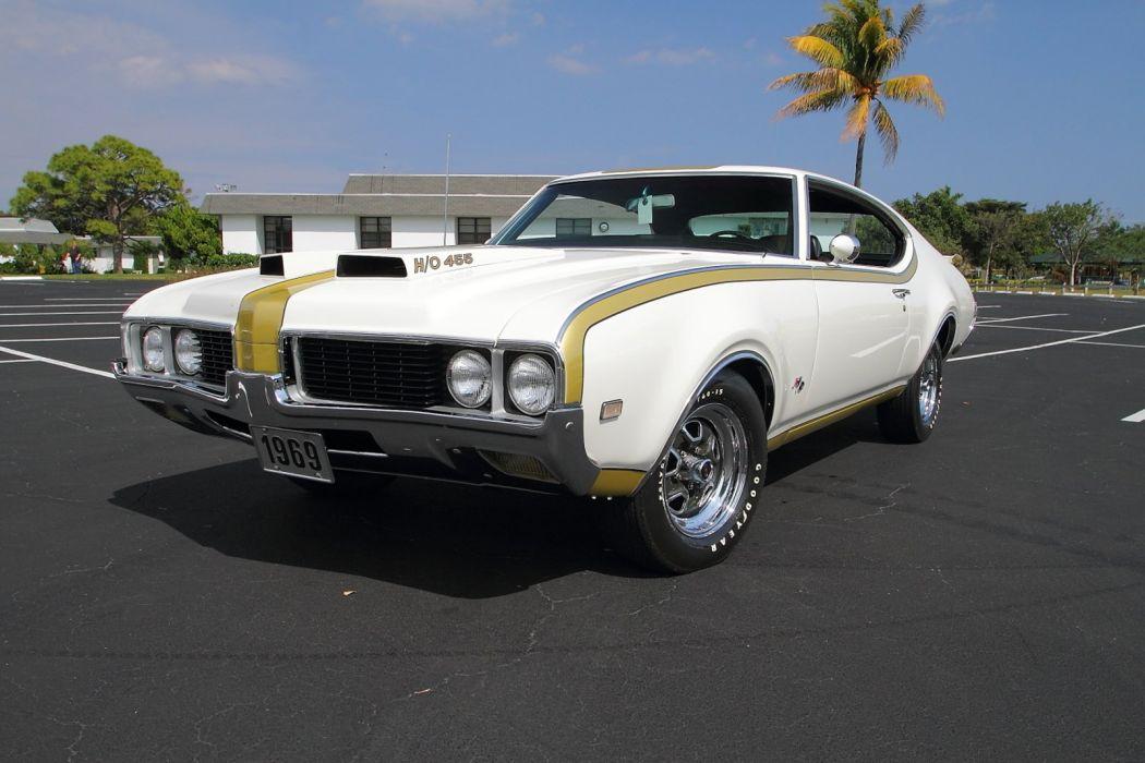 1969 Oldsmobile Hurst Hust Olds HO 455 White Muscle Classic USA 1600x1067-11 wallpaper