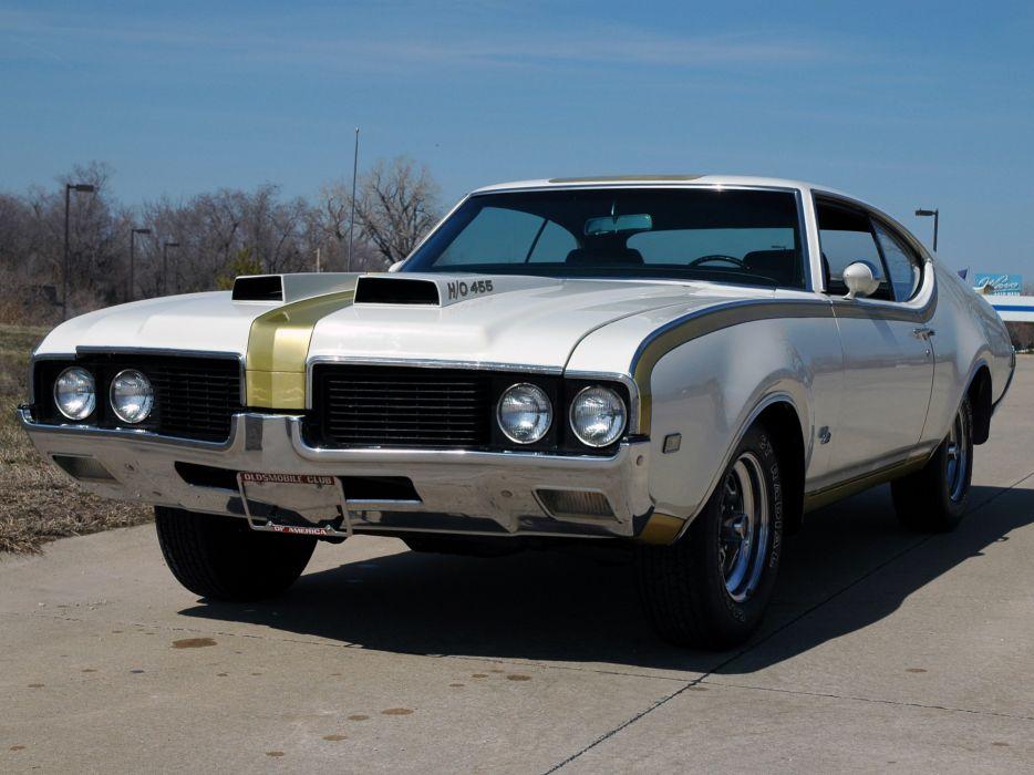 1969 Oldsmobile Hurst Hust Olds HO 455 White Muscle Classic USA 3000x2000-02 wallpaper