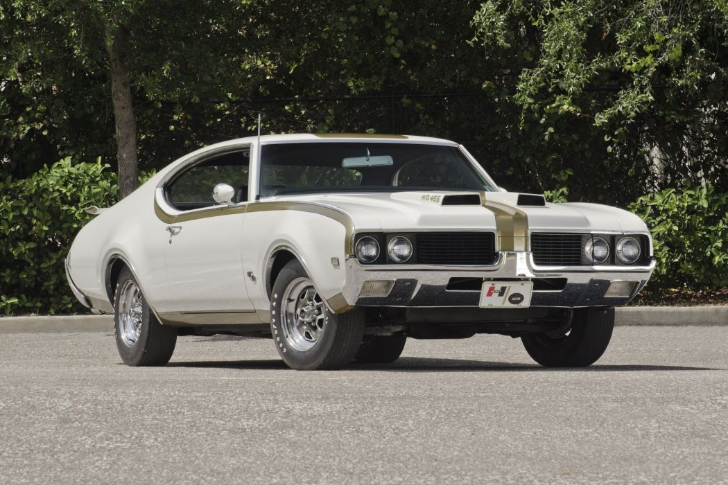 1969 Oldsmobile Hurst Hust Olds HO 455 White Muscle Classic USA 3000x2000-01 wallpaper