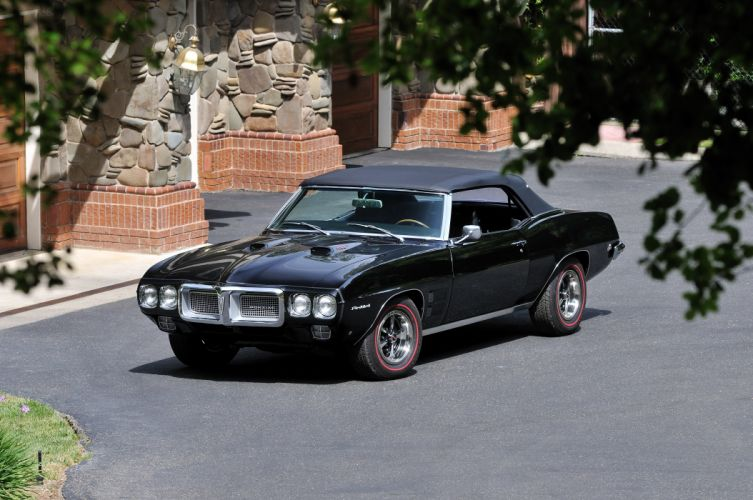 1969 Pontiac Firebird 400 Muscle Classic Old Black USA 4288x2848-01 wallpaper