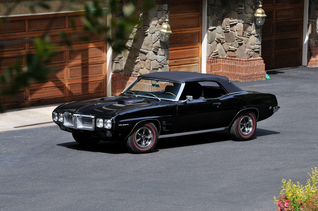 1969 Pontiac Firebird 400 Muscle Classic Old Black USA 4288x2848-04 wallpaper