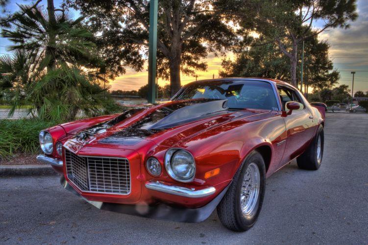 1970 Chevrolet Camaro Muscle Streetrod Street Rod Hot HDRI USA 4500x3000 wallpaper