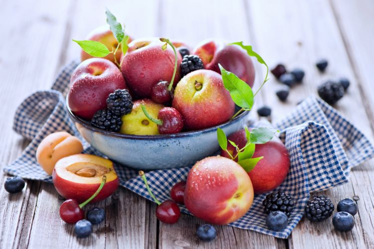 Fruits basket grape strawberry apple watermelon blueberry cherry nature food delicious sweet summer table cocktail wallpaper