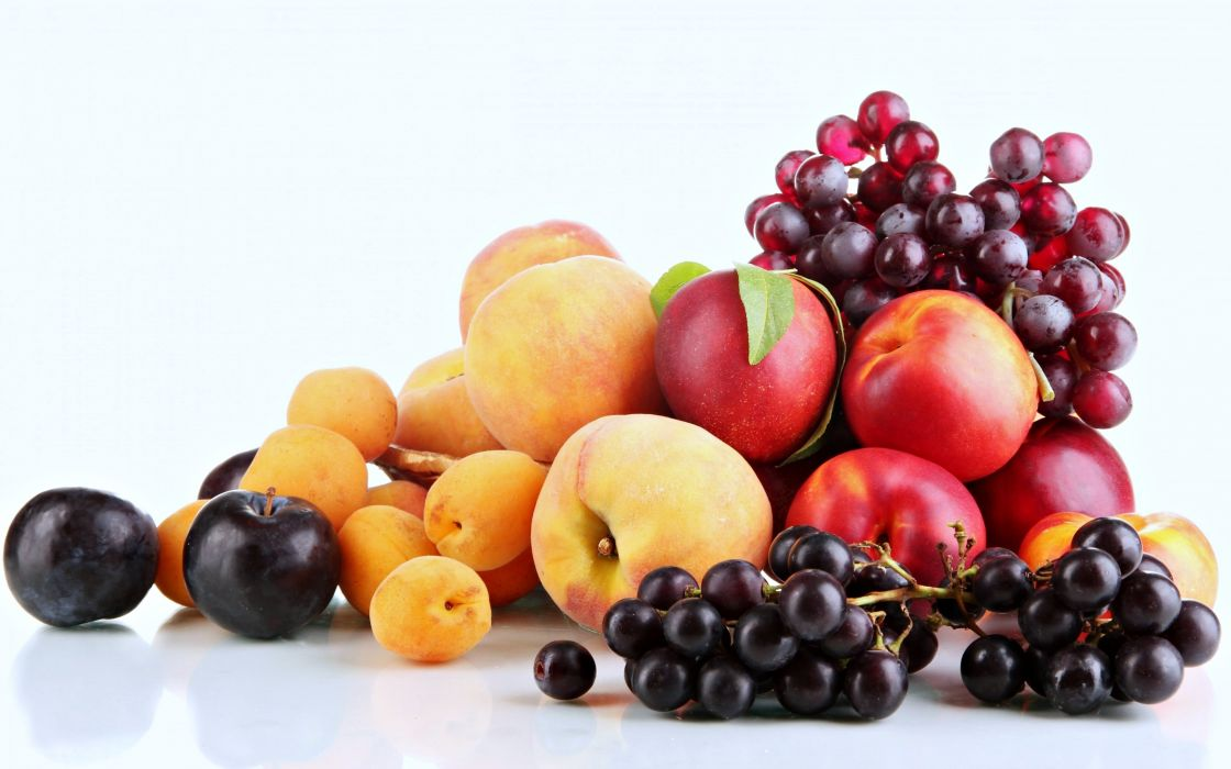 Fruit grape strawberry apple watermelon blueberry cherry nature food delicious sweet summer table cocktail peaches wallpaper