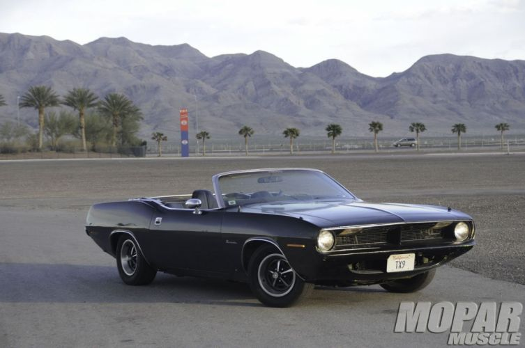 1970 Plymouth Barracuda Convertible Black Muscle Classic USA 1600x1060-01 wallpaper