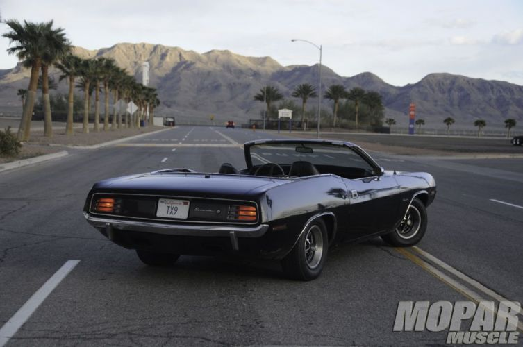 1970 Plymouth Barracuda Convertible Black Muscle Classic USA 1600x1060-02 wallpaper