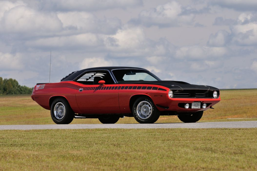 1970 Plymouth AAR Cuda Red Muscle Classic USA 4200x2790-04 wallpaper