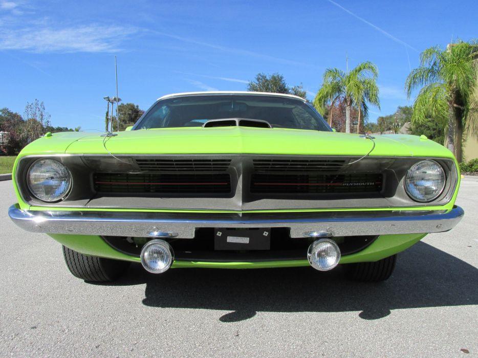 1970 Plymouth Barracuda Convertible Green Muscle Classic USA 4200x3150-02 wallpaper