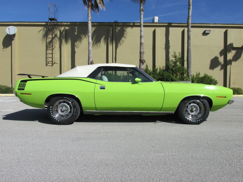 1970 Plymouth Barracuda Convertible Green Muscle Classic USA 4200x3150-03 wallpaper