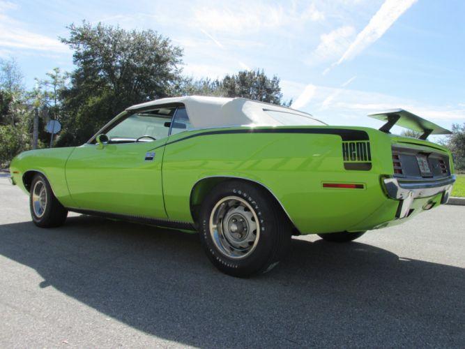 1970 Plymouth Barracuda Convertible Green Muscle Classic USA 4200x3150-04 wallpaper