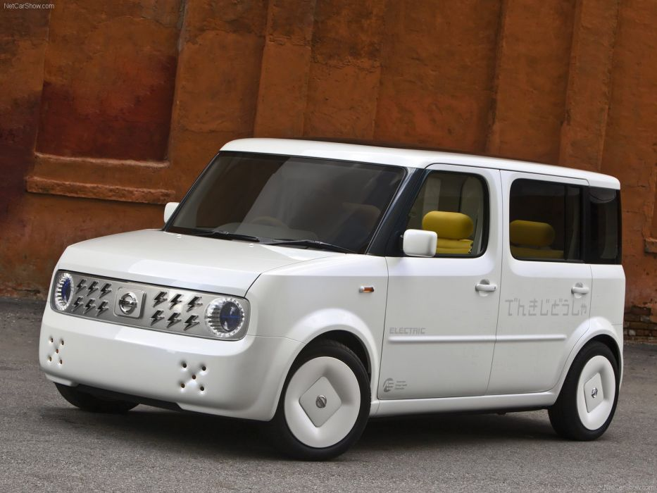 Nissan Denki Cube Concept cars 2008 electric wallpaper