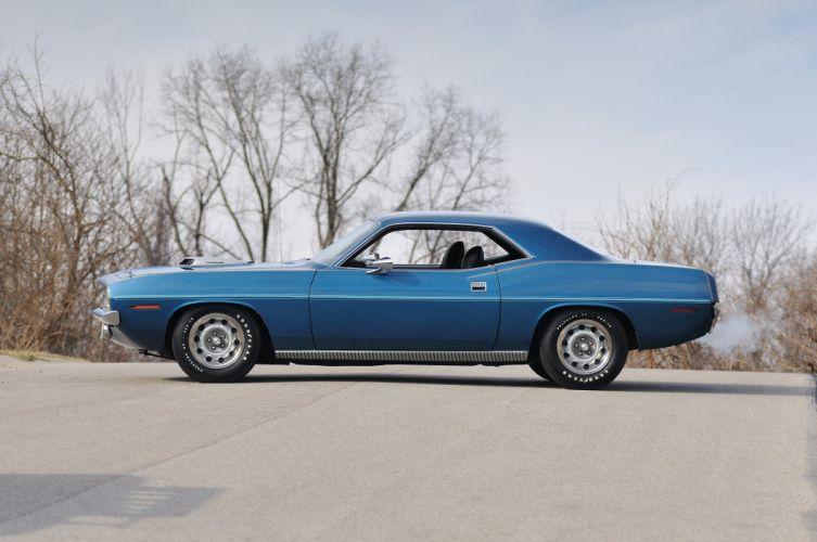 1970 Plymouth Hemi Cuda Blue Muscle Classic USA 4200x2790-02 wallpaper