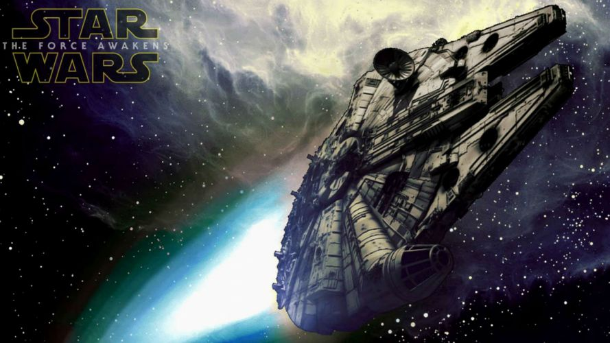 STAR WARS FORCE AWAKENS sci-fi action adventure disney 1star-wars-force-awakens space spaceship poster wallpaper