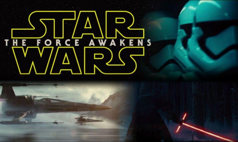 STAR WARS FORCE AWAKENS sci-fi action adventure disney 1star-wars-force-awakens space spaceship poster wallpaper