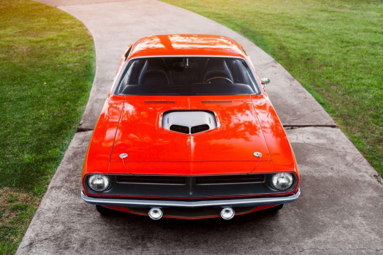 1970 Plymouth Hemi Cuda Muscle Classic Old Retro Red USA 4800x3204-02 wallpaper
