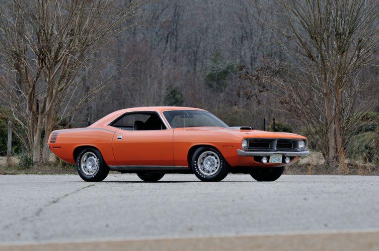 1970 Plymouth Hemi Cuda Orange Muscle Classic USA 4200x2790-01 wallpaper