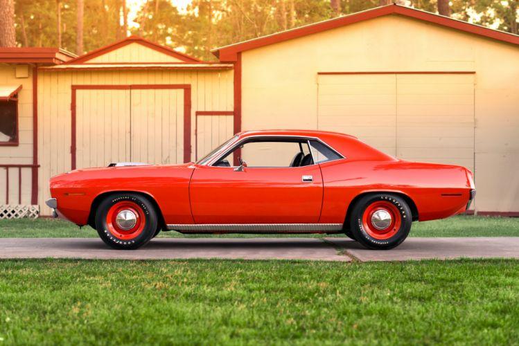 1970 Plymouth Hemi Cuda Muscle Classic Old Retro Red USA 4800x3204-06 wallpaper