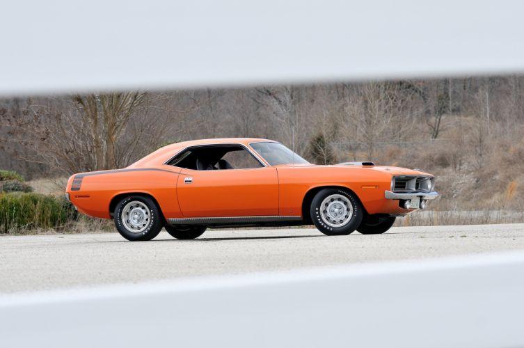 1970 Plymouth Hemi Cuda Orange Muscle Classic USA 4200x2790-04 wallpaper