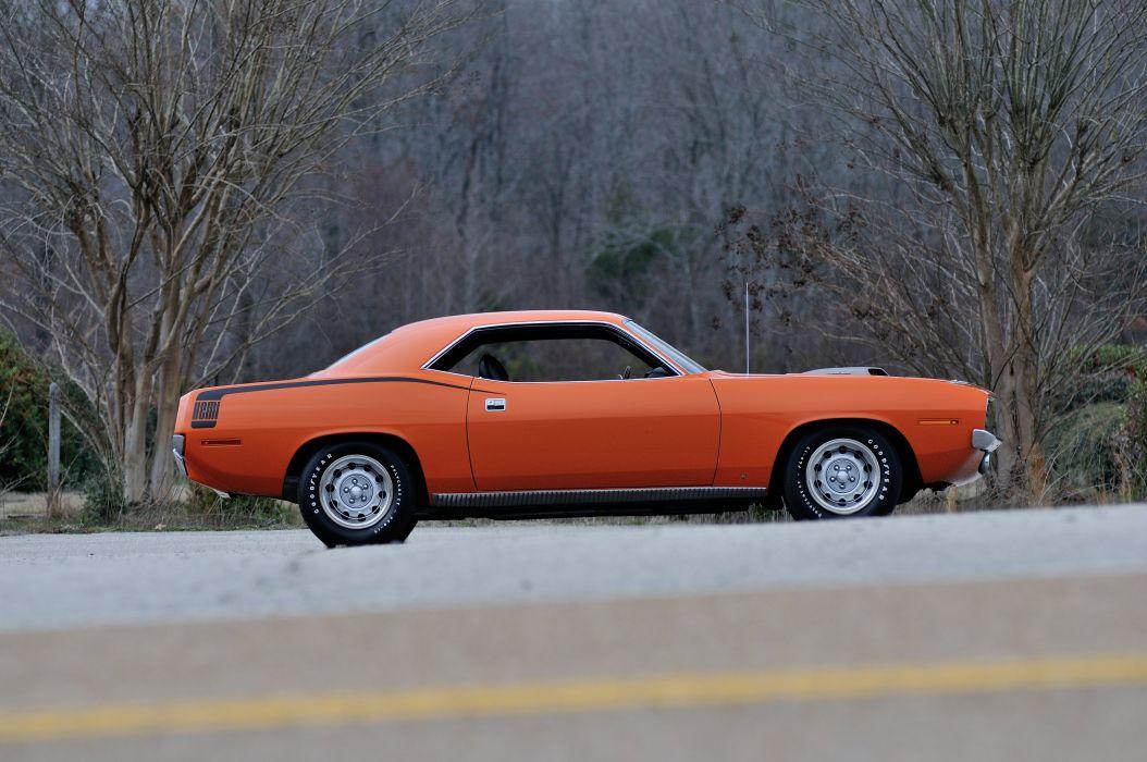 1970 Plymouth Hemi Cuda Orange Muscle Classic USA 4200x2790-02 wallpaper