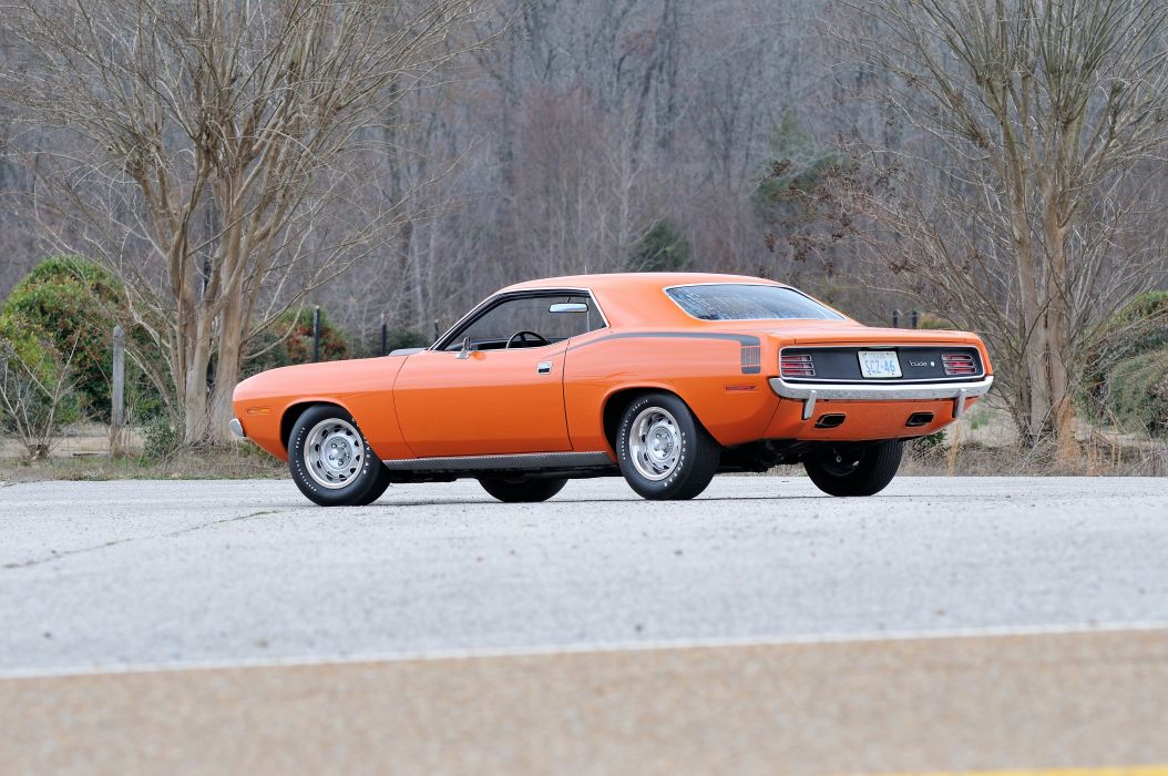 1970 Plymouth Hemi Cuda Orange Muscle Classic USA 4200x2790-03 wallpaper