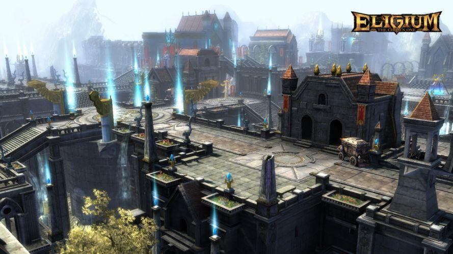 ELIGIUM ONLINE fantasy sci-fi mmo rpg action fighting 1eligium wallpaper